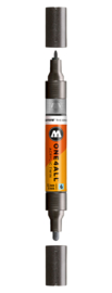 223 ONE4ALL Acrylic twin marker Metallic black