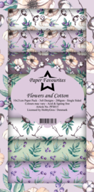 PFS015 Paper Favourites Slim Paper Pack Flowers and Cotton