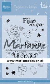 MZ1905  Clear Stamp Marjoleine's Sneeuwman