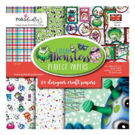 PD7039 Polkadoodles Little Monsters 6x6 Inch Paper Pack