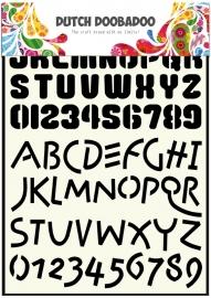 470.455.005 Dutch Doobadoo Stencil Art Alphabet 4