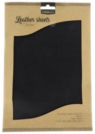 FLSSL04 Fake Leather Sheets - Black