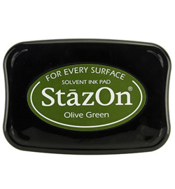 SZ-000-051 Stazon Ink Pad Olive Green