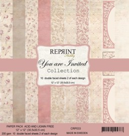 CRP03 Reprint 12x12 Inch Paper Pack You are Invited