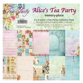 MP-60313 Memory Place Alice's Tea Party 6x6 Inch Paper Pack