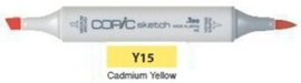 Y15 Copic Sketch Marker Cadmium Yellow