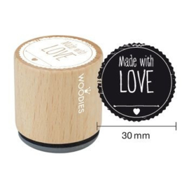 WE5004 Woodies Made with LOVE Rubber Stamp
