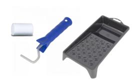 Verfbak plastic + Mini beugel + Verfroller 5 cm