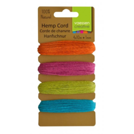 3908-004 Hemp cord assortiment 4x10m summer