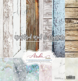 MP-60333 Memory Place Weathered Wood & Crystals 12x12 Inch Paper Pack