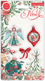 CCSTMP044 Craft Consortium Noel Clear Stamps Decorations
