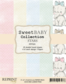 RPP025 Reprint  Collection 6x6 Inch Paper Pack Sweet Baby