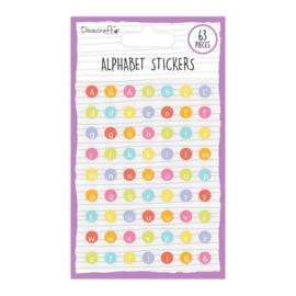 DCBS254 Dovecraft Alphabet Stickers Brights (63pcs)
