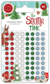 CCADOT003 It's Snome Time Enamel Dots