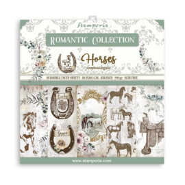SBBS39 Stamperia Romantic Horses 8x8 Inch Paper Pack