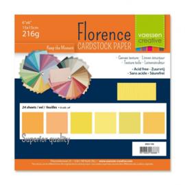 2923-106 Florence • Cardstock multipack 15,2x15,2cm Geel