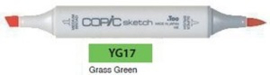 YG17 Copic Sketch Marker Grass Green
