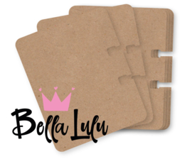 Bella Lulu Rolodex / memorydex kaartjes 25 st. kraft