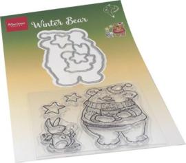 HT1659 Clear Stamp & Die Hetty's Kerst beer