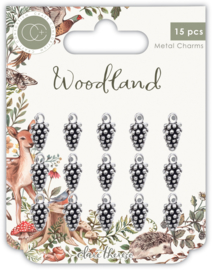CCMCHRM018 Craft Consortium Woodland Metal Charms Silver Pine Comb