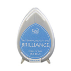BD-000-038 Dew Drop Brillance Ink Pad Pearlscent Skyblue