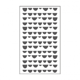 "100604-116 Vaessen Creative embossing folder 3x5"" pebbles"