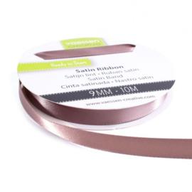301002-2023 Vaessen Creative satijnlint dubbel 9mm - 10m melkchocolade