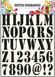 470.455.001 Dutch Stencil Art Alphabet 1