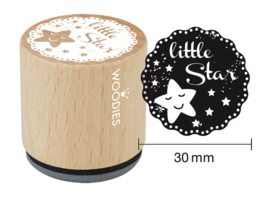 WE6010 Woodies Little Star Rubber Stamp