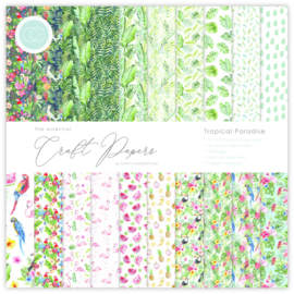 CCEPAD006B Craft Consortium Essential Craft Papers 6x6 Inch Paper Pad Tropical Paradise