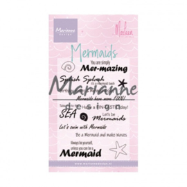 CS1025  Clear stamps mermaid sentiments by Marleen