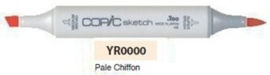 YR0000 Copic Sketch Marker Pale Chiffon