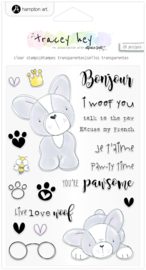 SC0974 Hampton Art Frenchie Clear Stamps