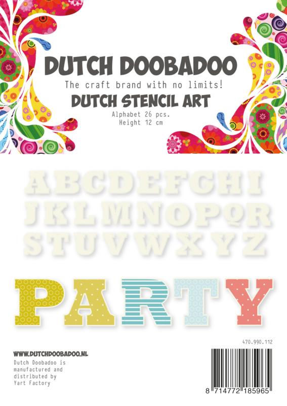 470.990.112 Dutch Stencil Art Alphabet A-Z (4)