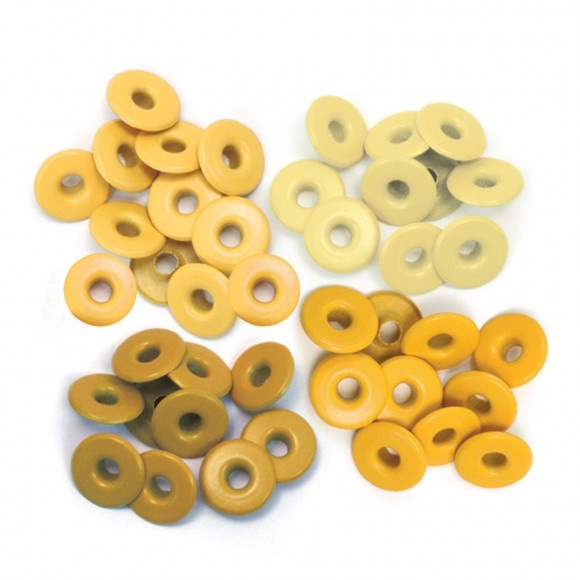 41587-9 We R Memory Keepers wide eyelets x40 yellow