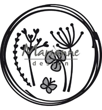 CR1468 Marianne Design Craftables Doodle circle