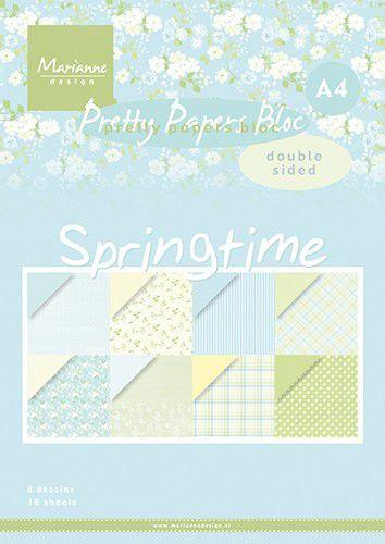 PK9174  Paper pad Springtime