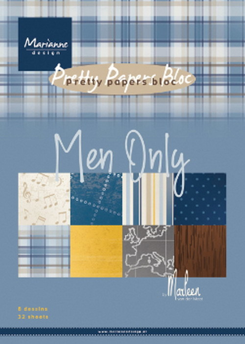PK9169 Marianne Design Pretty Papers Men only