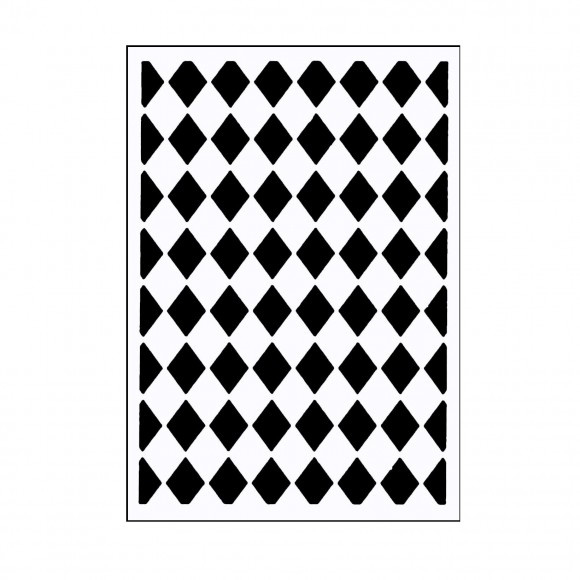 "100604-110 Vaessen Creative embossing folder 3x5"" classy diamonds"