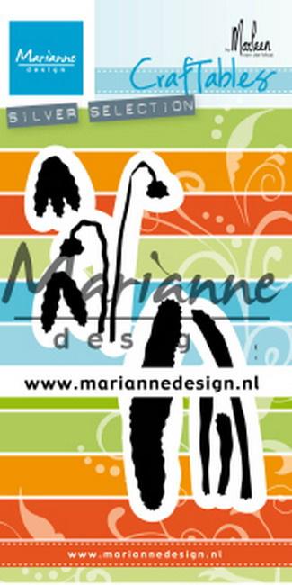 CR1490 Craftables stencil snowdrop by Marleen