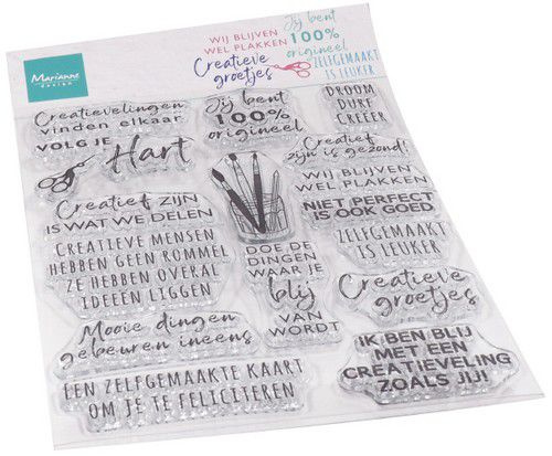 CS1071 Clear Stamp Creatieve groetjes