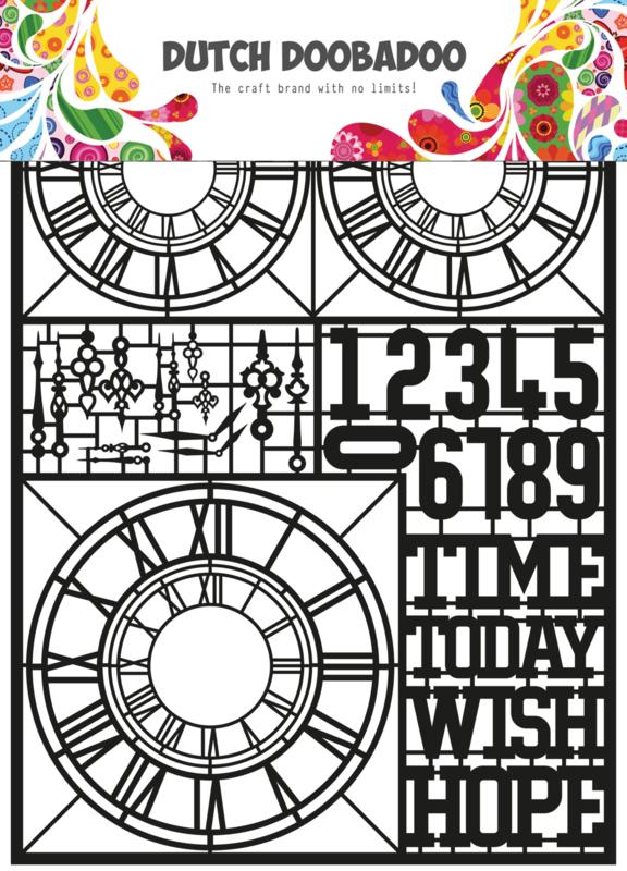 472.950.007 Laser Paper Art zwart Clocks