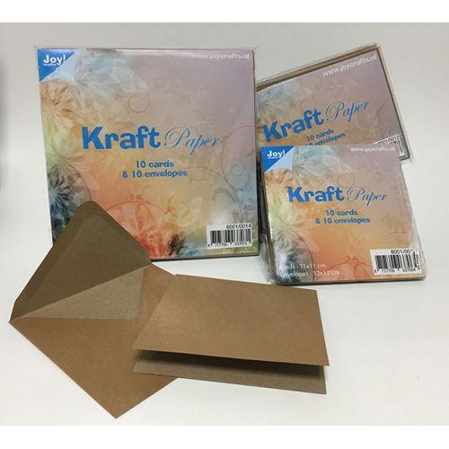 8001/0013 Kraftpapier met envelop - 12x12 cm