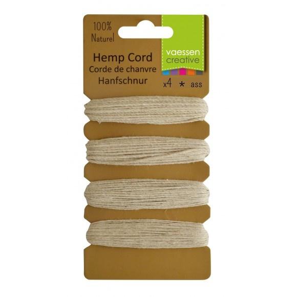 3908-002 Hemp cord assortiment 4x10m Ecru