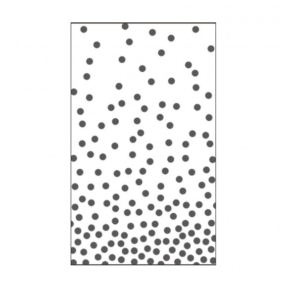 "100604-112 Vaessen Creative embossing folder 3x5"" dots 1"