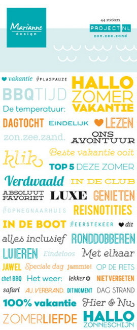 PL4506 Project NL - stickers - zon, zee, strand