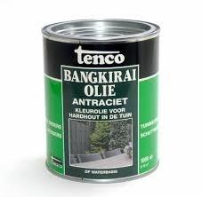 Tenco Bangkirai Olie Antraciet 2,5 liter