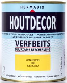Hermadix Houtdecor Verfbeits Zonnegeel 608 750 ml