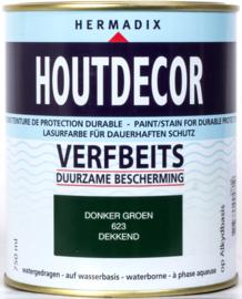 Hermadix Houtdecor Verfbeits Donker Groen 623 750 ml