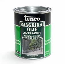 2 x 2,5 liter Tenco Bangkirai Olie Antraciet